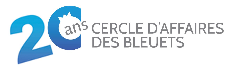 Logo lancement 20 ans Cercle d'affaires des Bleuets